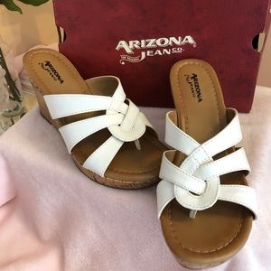 Arizona White 3.5 Cork Wedge